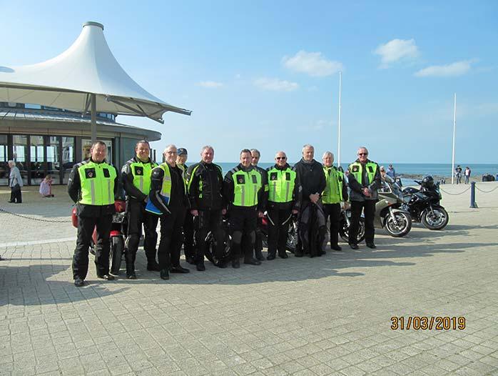 Tutors at Aberystwyth on a training ride