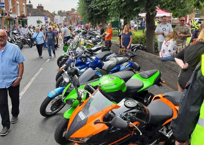 bikes at broseley bike show