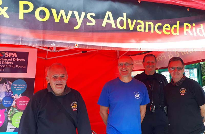 sapar members manning the stand at Broseley