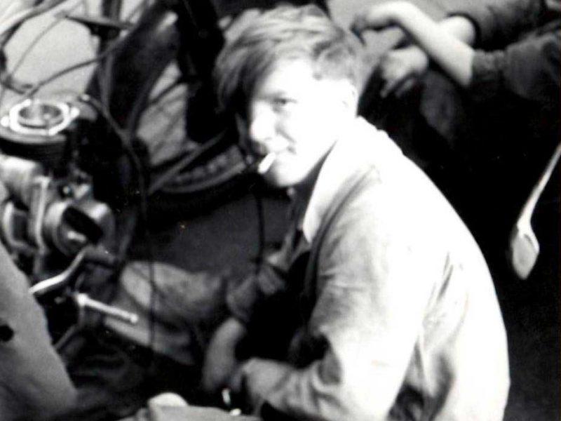 Aged 17 with 500cc Norton