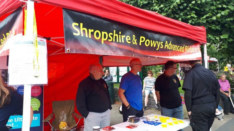 SaPAR Stand at Broseley Motorcycle Festival